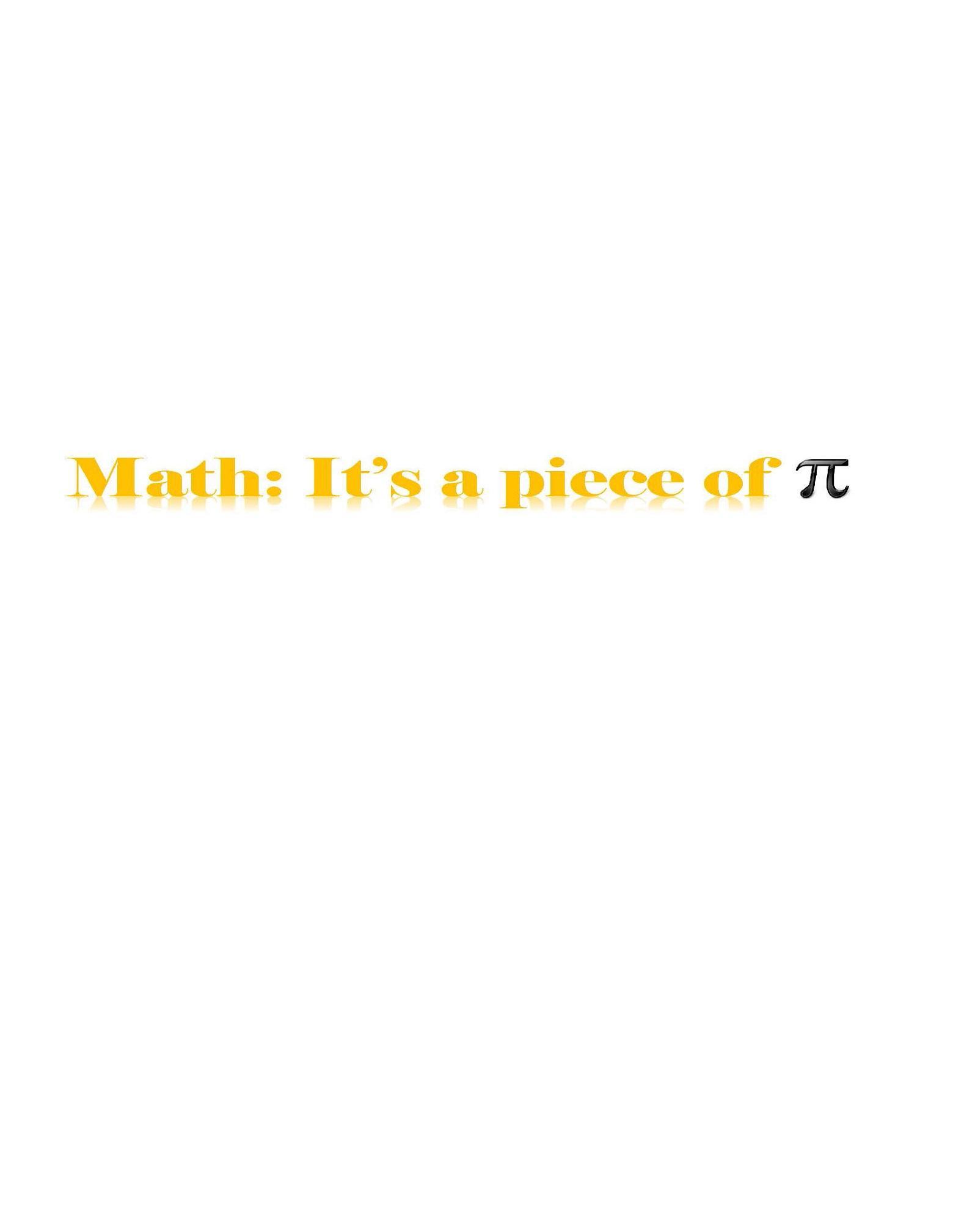 Math - Its a piece of pie