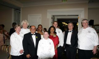 The Molina Family, Dr. Hierstein, Culinary Arts faculty and students