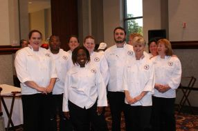 Culinary Students before the big event