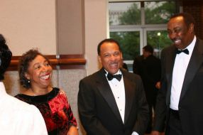Dr. Patricia Elliot, Douglas Jones, and Percy Thomas