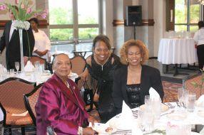 Connie Harper, volunteer, and Sylvia Harper