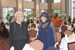 Elmira Clayton and Dr. Hamlar