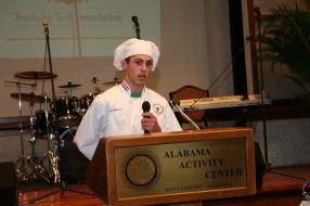 Josh Miniski giving details of the meal