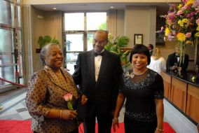 Mrs. Cal, Dr. Jimmy Cal and Mrs. Ann Vernon