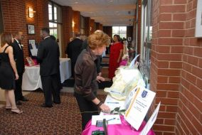 Placing a bid on the Silent Auction