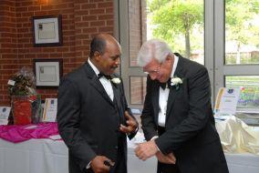 Pres. Munnerlyn and Mr. Craig Washing sharing a laugh