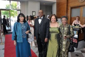 Mrs. Portia Trenholm-Hamlar, Pres. and Mrs. Munnerlyn, and Dr. Patton