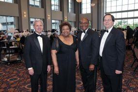 Chancellor Byrne, Ella Bell, Pres. Munnerlyn and Robert Gilpen