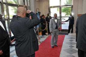 Tony Sager on the red carpet