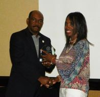(Left:) President Munnerlyn, (Right:) Geneva Patterson 2012 Leadership Graduate
