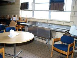 (Before photo) Kitchen, E. Sharpe Student Center