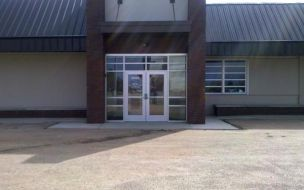 (After photo) Front entrance Joseph Dickerson Educational Center