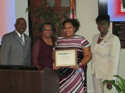 President Munnerlyn, Betty Edwards, Davita Massey and Dr. Whiting