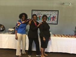 Geneva Patterson, Yvonne Williams and Regina Rudolph