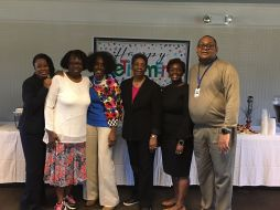 Retirement committee Tara Davis, Shirley Smith, Geneva Patterson, Yvonne Williams, Regina Rudolph and Paul Blackmon