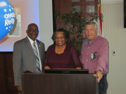 President Munnerlyn, Betty Edwards and Wilford Holt