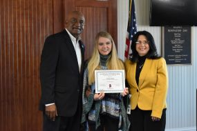Computer Information Systems (CIS) student Jordan Heath receives scholarship for recruiting fellow CIS students to join the ATF database.