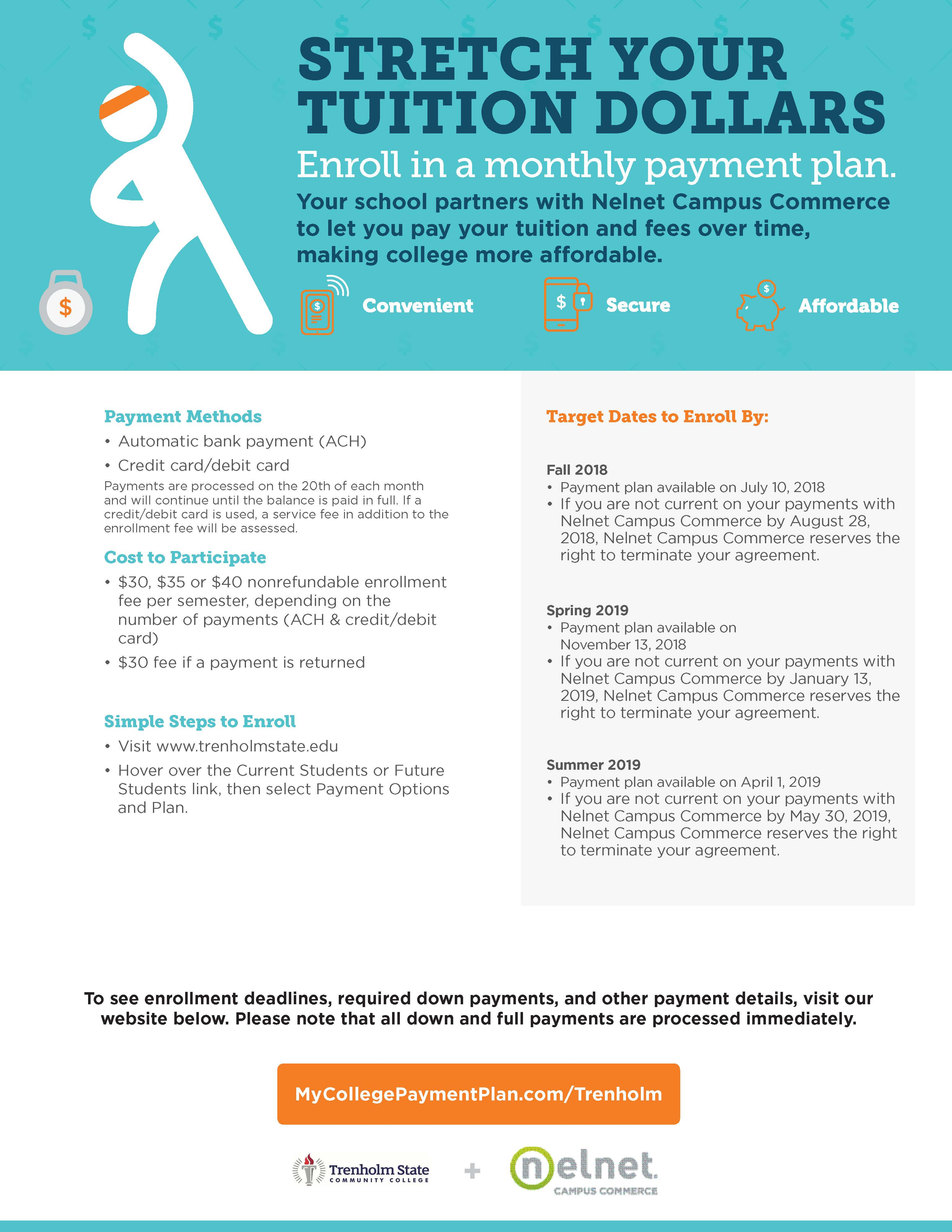 Payment Options And Plan Trenholm State Community College